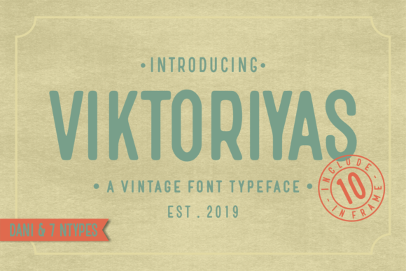 Print on Demand: Viktoriyas Display Font By Dani (7NTypes) - Image 1