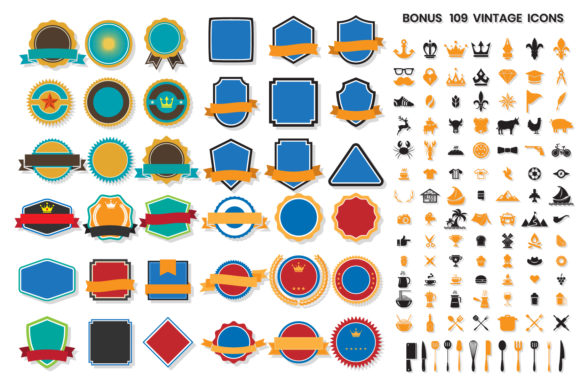 Download Free 984 Modern Logo Shapes Graphic By Toonsteb Creative Fabrica for Cricut Explore, Silhouette and other cutting machines.