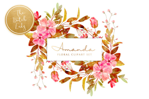 Print on Demand: Vintage Florals & Botanicals Clipart Set - Amanda Graphic Illustrations By daphnepopuliers