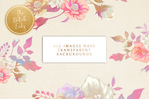 Print on Demand: Vintage Florals & Botanicals Clipart Set - Melanie Graphic Illustrations By daphnepopuliers - Image 2