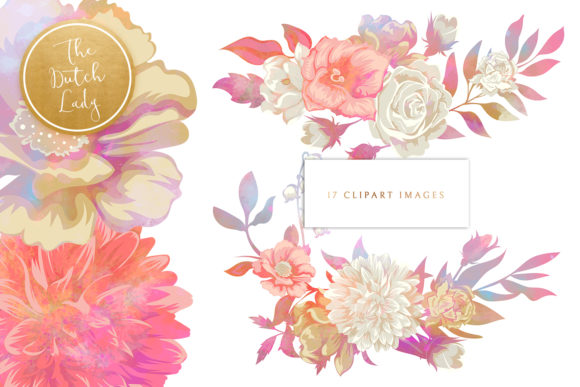 Print on Demand: Vintage Florals & Botanicals Clipart Set - Melanie Graphic Illustrations By daphnepopuliers - Image 3