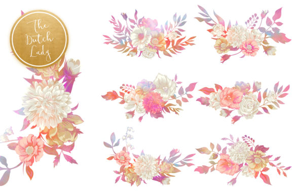 Print on Demand: Vintage Florals & Botanicals Clipart Set - Melanie Graphic Illustrations By daphnepopuliers - Image 5
