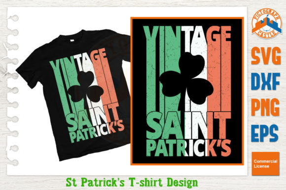 Download Free Vintage Saint Patrick S Day Graphic By Graphicza Creative Fabrica for Cricut Explore, Silhouette and other cutting machines.