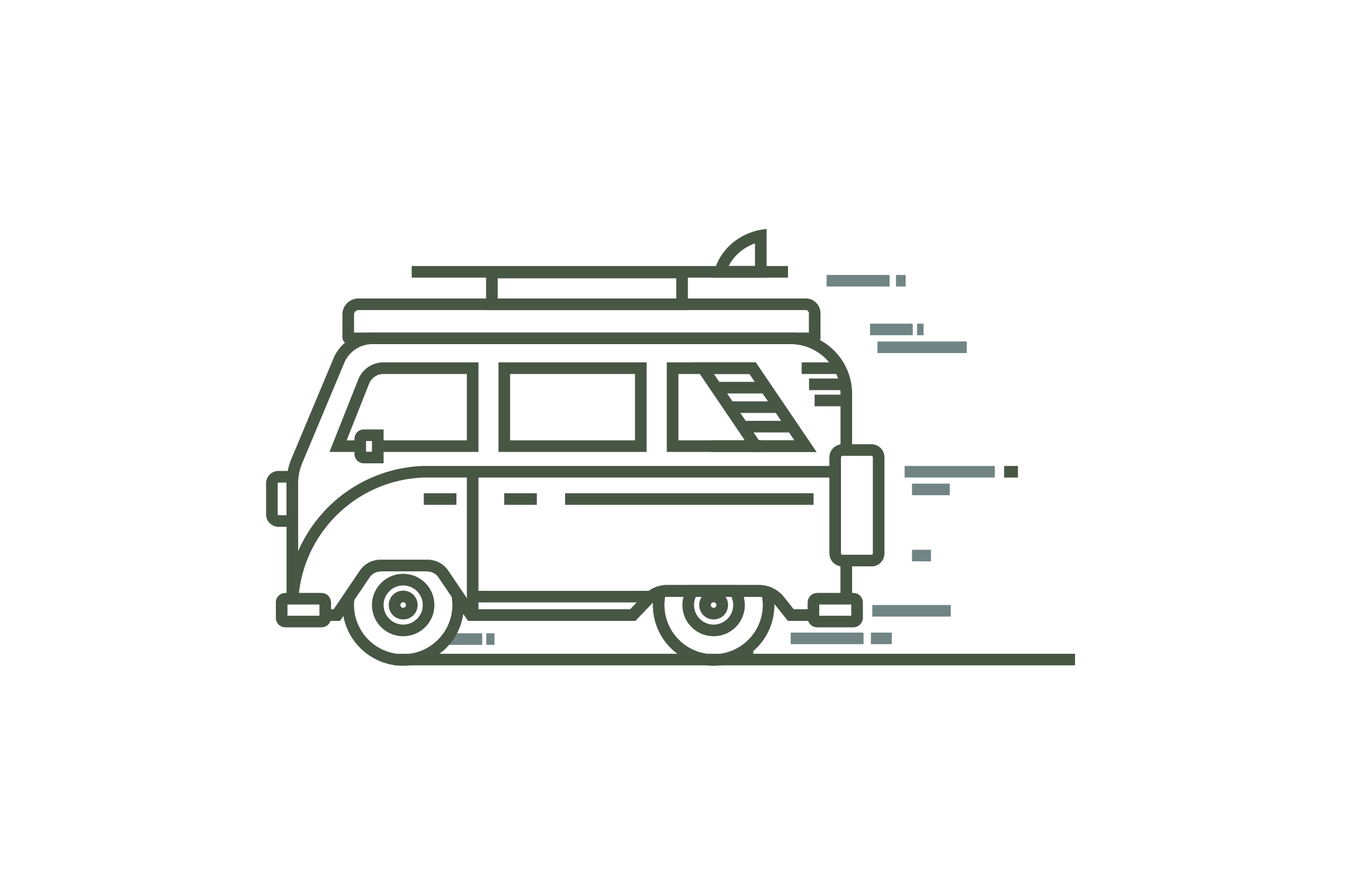 Download Free Volkswagen Combi Car Line Style Vector Graphic By for Cricut Explore, Silhouette and other cutting machines.