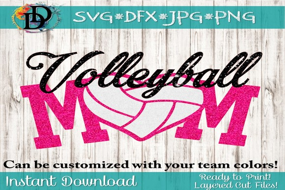 Download Free Volleyball Mom Graphic By Dynamicdimensions Creative Fabrica for Cricut Explore, Silhouette and other cutting machines.