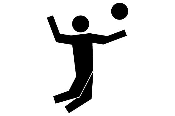 Download Free Volleyball Sport Monochrome Icon Graphic By Hoeda80 Creative for Cricut Explore, Silhouette and other cutting machines.