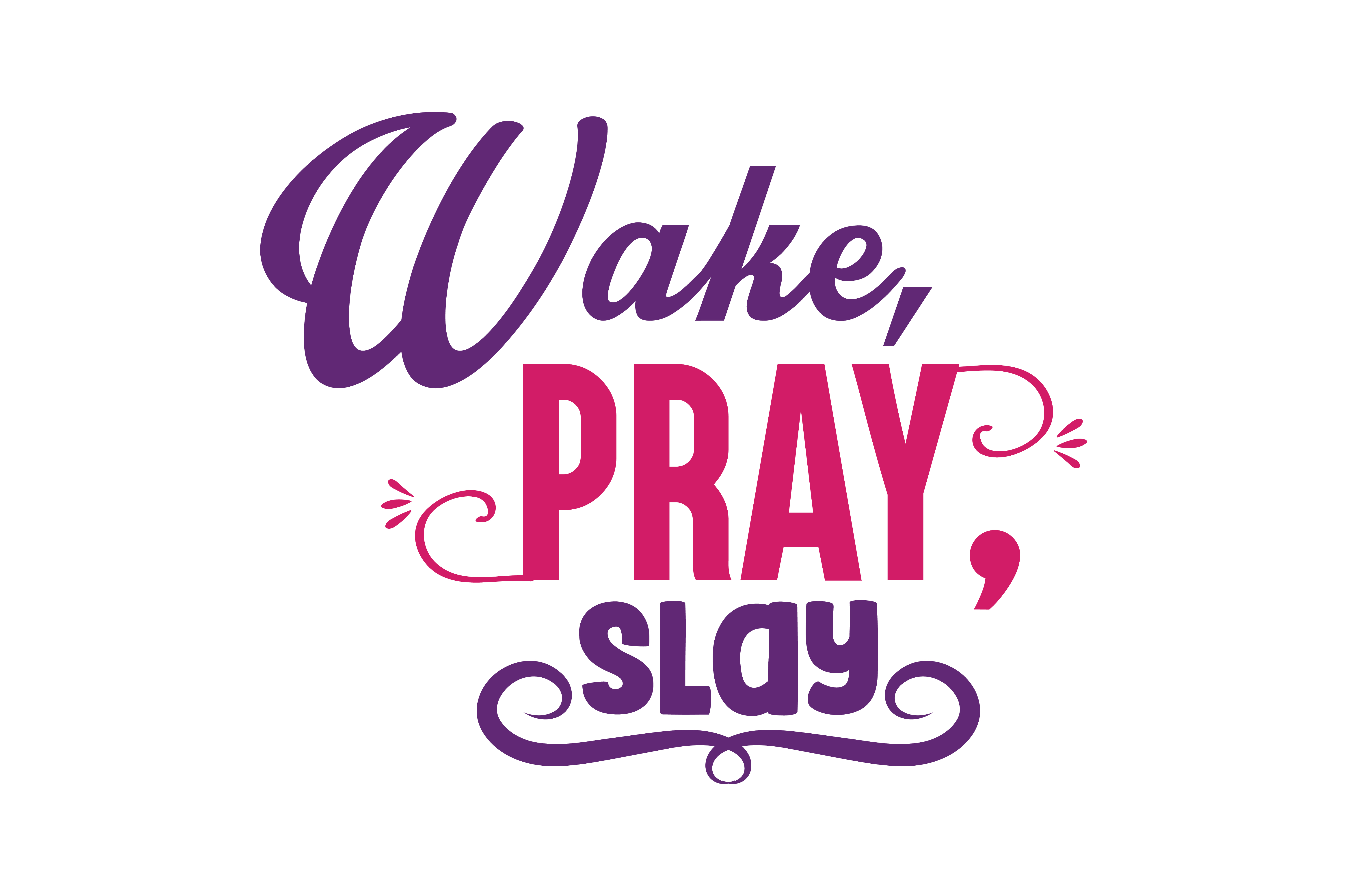 Download Free Wake Pray Slay Quote Svg Cut Graphic By Thelucky Creative for Cricut Explore, Silhouette and other cutting machines.