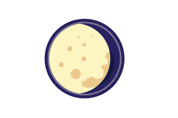 Download Free Waning Gibbous Svg Cut File By Creative Fabrica Crafts for Cricut Explore, Silhouette and other cutting machines.
