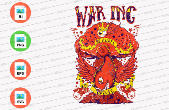 War Inc Be Aware Danger Graphic Illustrations By Skull and Rose