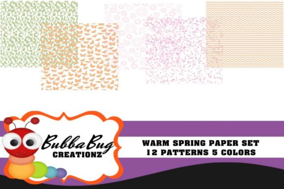 Warm Spring Set Graphic Patterns By BUBBABUG - Image 1