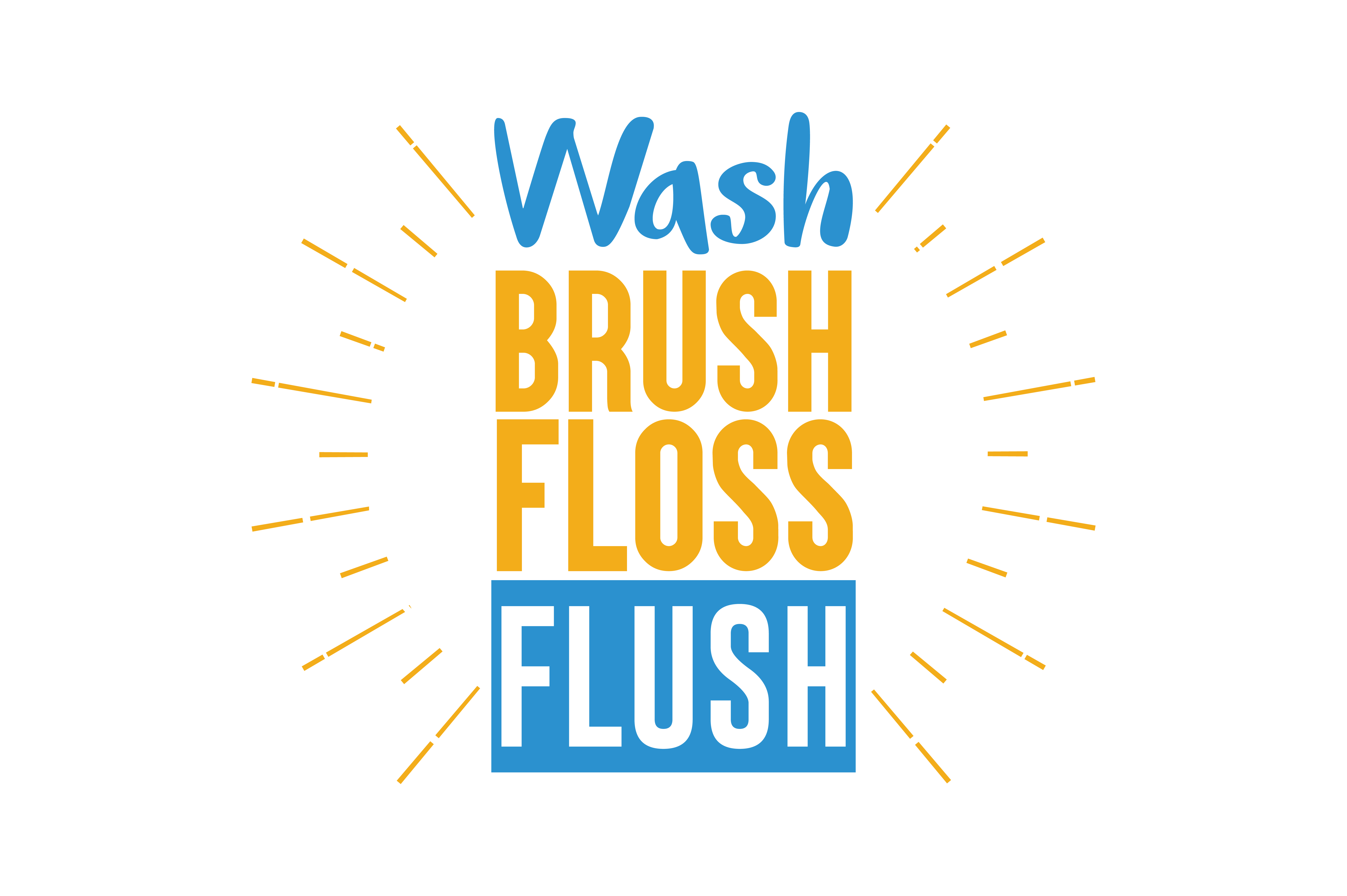 Download Free Wash Brush Floss Flush Quote Svg Cut Graphic By Thelucky for Cricut Explore, Silhouette and other cutting machines.