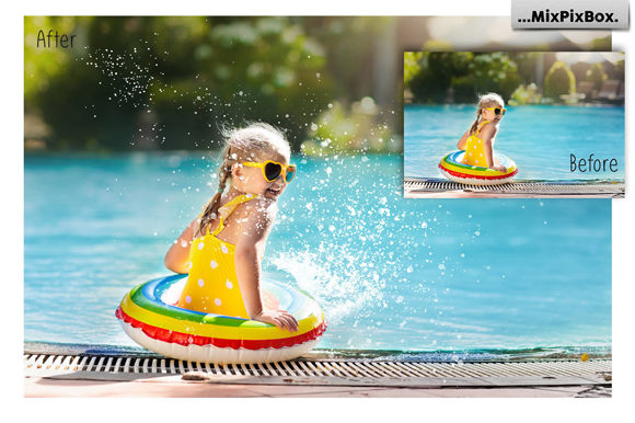 Print on Demand: Water Splash Photo Overlays Graphic Layer Styles By MixPixBox - Image 4