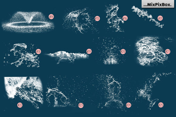 Print on Demand: Water Splash Photo Overlays Graphic Layer Styles By MixPixBox - Image 6