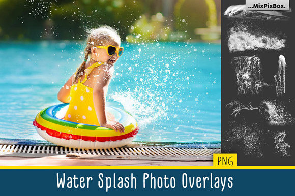Print on Demand: Water Splash Photo Overlays Graphic Layer Styles By MixPixBox