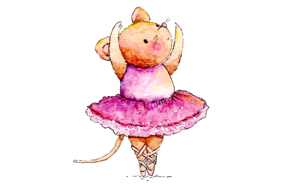 Watercolor Ballet Animals
