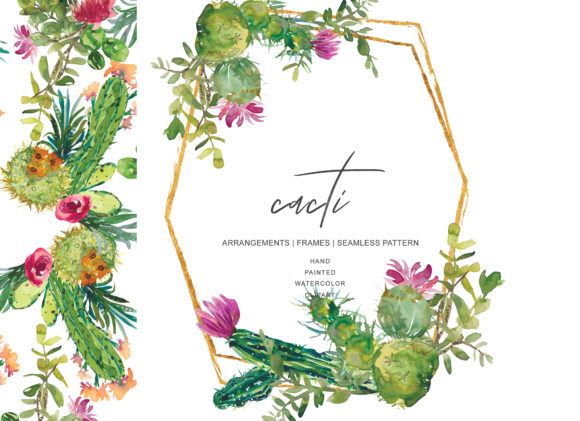 Download Free Watercolor Cactus Clip Art Graphic By Patishop Art Creative for Cricut Explore, Silhouette and other cutting machines.