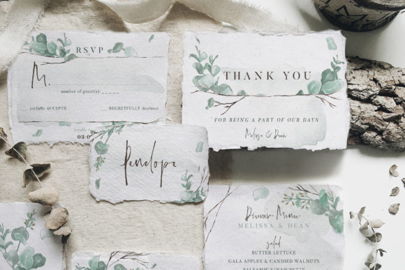 Download Free Watercolor Eucalyptus Wedding Suite Graphic By Blue Robin Design Shop Creative Fabrica for Cricut Explore, Silhouette and other cutting machines.