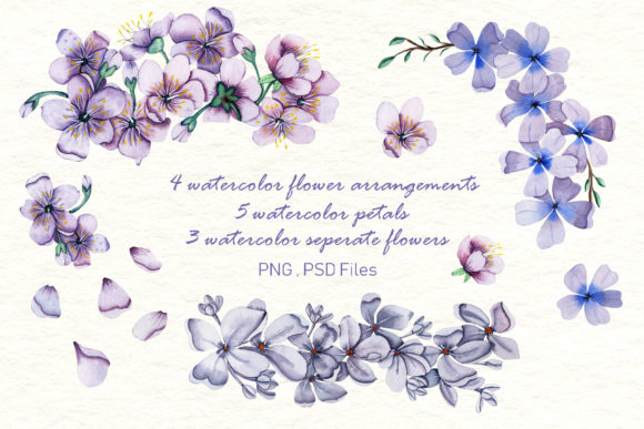 Print on Demand: Watercolor Flowers - Spring Collection Graphic Illustrations By tanatadesign - Image 2