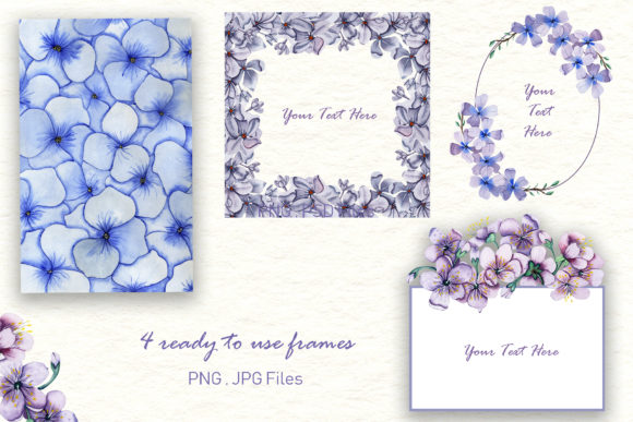 Print on Demand: Watercolor Flowers - Spring Collection Graphic Illustrations By tanatadesign - Image 4