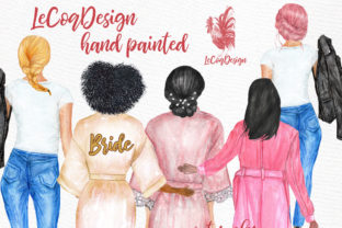 Download Free Watercolor Hairstyles Clipart Graphic By Lecoqdesign Creative for Cricut Explore, Silhouette and other cutting machines.