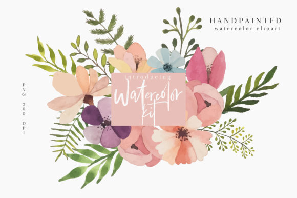 Print on Demand: Watercolor Kit Graphic Illustrations By Caoca Studios