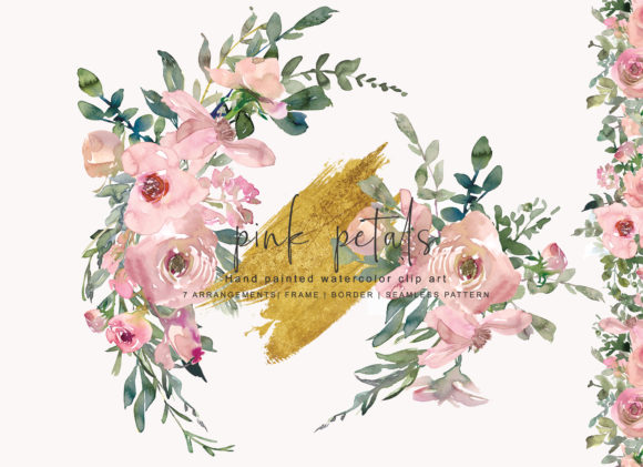 Watercolor Pink Blush Flower Clipart Graphic Illustrations By Patishop Art - Image 2