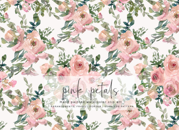 Watercolor Pink Blush Flower Clipart Graphic Illustrations By Patishop Art - Image 3