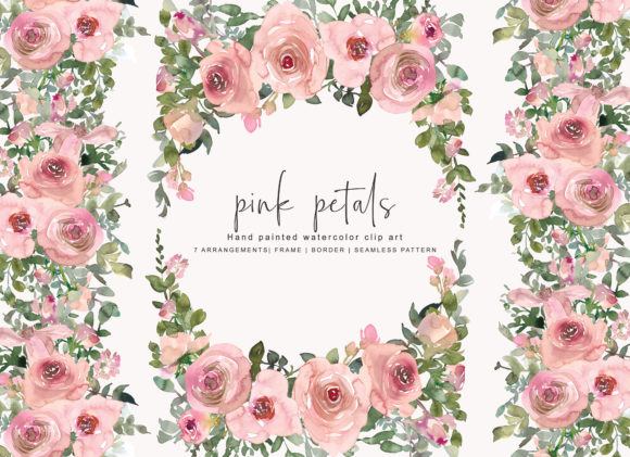 Watercolor Pink Blush Flower Clipart Graphic Illustrations By Patishop Art - Image 4
