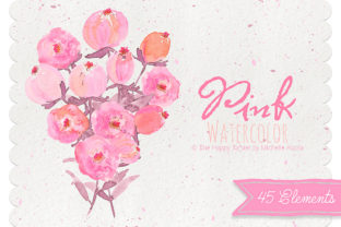 Watercolor Pink Flower Clipart Graphic By Michelle Alzola