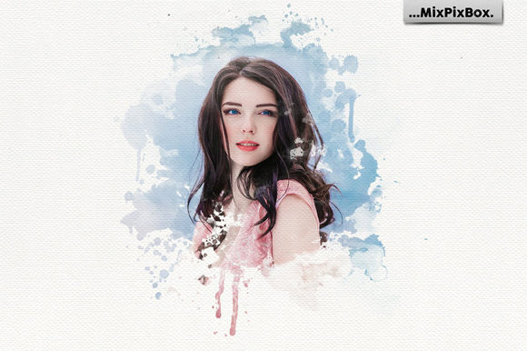 Print on Demand: Watercolor Portrait Photo Masks Graphic Layer Styles By MixPixBox - Image 2