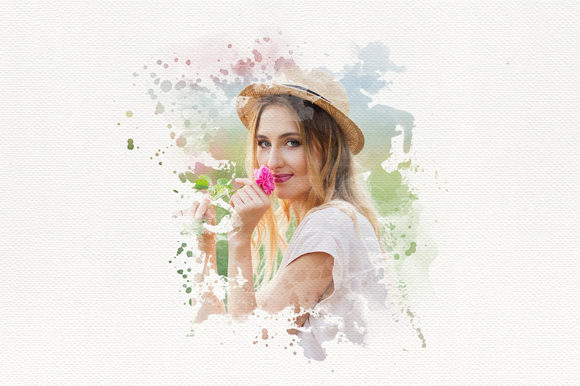 Download Free Watercolor Portrait Photo Masks Graphic By Mixpixbox Creative for Cricut Explore, Silhouette and other cutting machines.