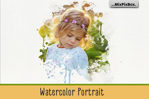 Print on Demand: Watercolor Portrait Photo Masks Graphic Layer Styles By MixPixBox