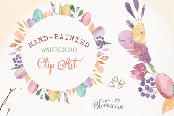 Watercolour Easter Flower 8 Frames Clipart Graphic Illustrations By Bloomella - Image 4
