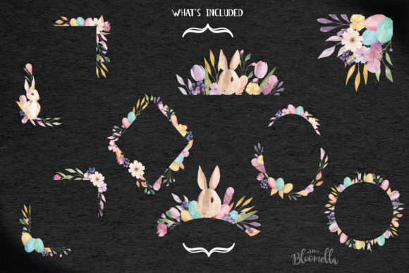 Watercolour Easter Flower 8 Frames Clipart Graphic Illustrations By Bloomella - Image 6