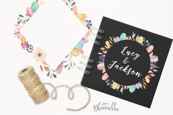 Watercolour Easter Flower 8 Frames Clipart Graphic Illustrations By Bloomella - Image 7