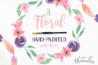 Watercolour Floral Wreaths Flowers Clipart Graphic By Bloomella