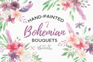 Watercolour Floral Clipart Graphic By Bloomella