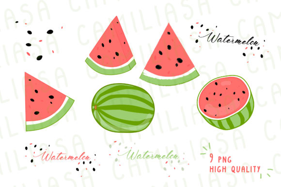 Print on Demand: Watermelon Graphic Icons By Inkclouddesign - Image 2