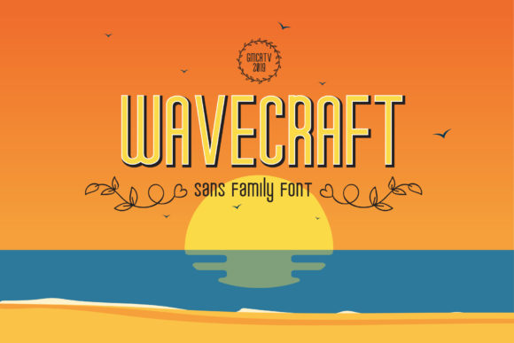 Wavecraft Sans Serif Font By gumacreative