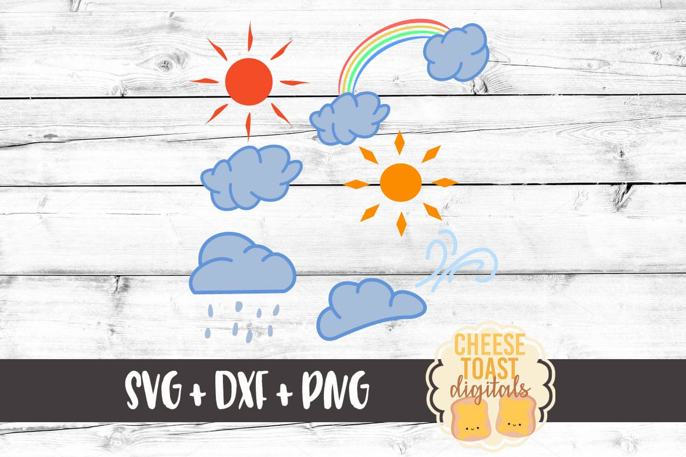 Download Free Weather Svg Bundle Graphic By Cheesetoastdigitals Creative Fabrica for Cricut Explore, Silhouette and other cutting machines.