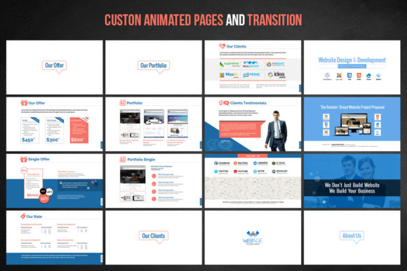 Print on Demand: Web Design & Development Template Graphic Presentation Templates By ContestDesign - Image 4