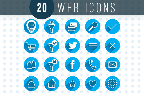 Web Icons Graphic Web Elements By danieladoychinovashop