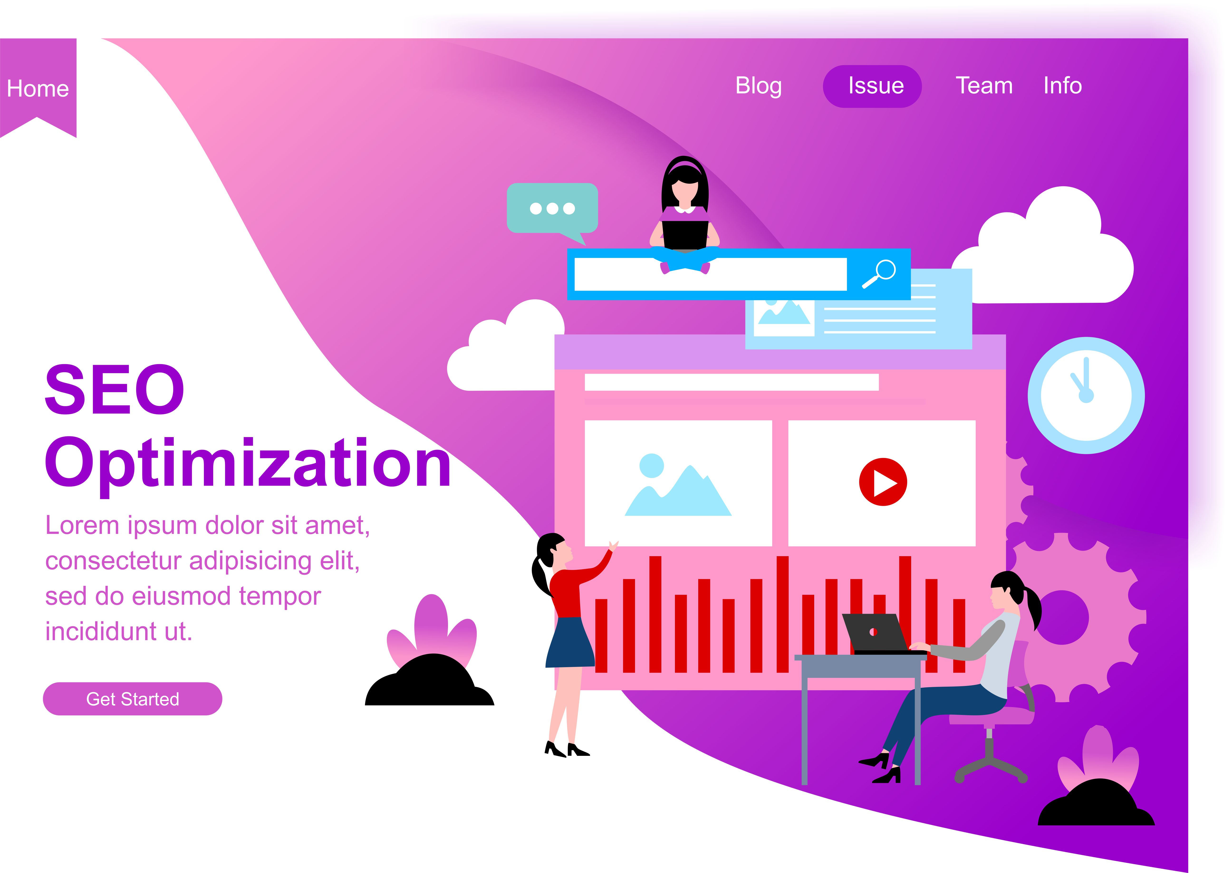 Download Free Web Design For Seo Teamwork And Business Strategy Modern Website for Cricut Explore, Silhouette and other cutting machines.