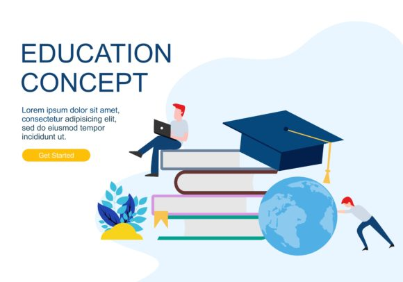 Web Page Design Templates for Education Concept. Modern Vector Illustration Concepts for Website and Mobile Website Development. Graphic By DEEMKA STUDIO Image 1