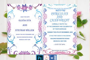 Download Free Wedding Invitation Card Design Graphic By Creativeideh for Cricut Explore, Silhouette and other cutting machines.