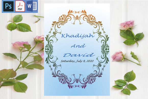 Download Free Wedding Invitation Cards Modern Graphic By Creativeideh for Cricut Explore, Silhouette and other cutting machines.