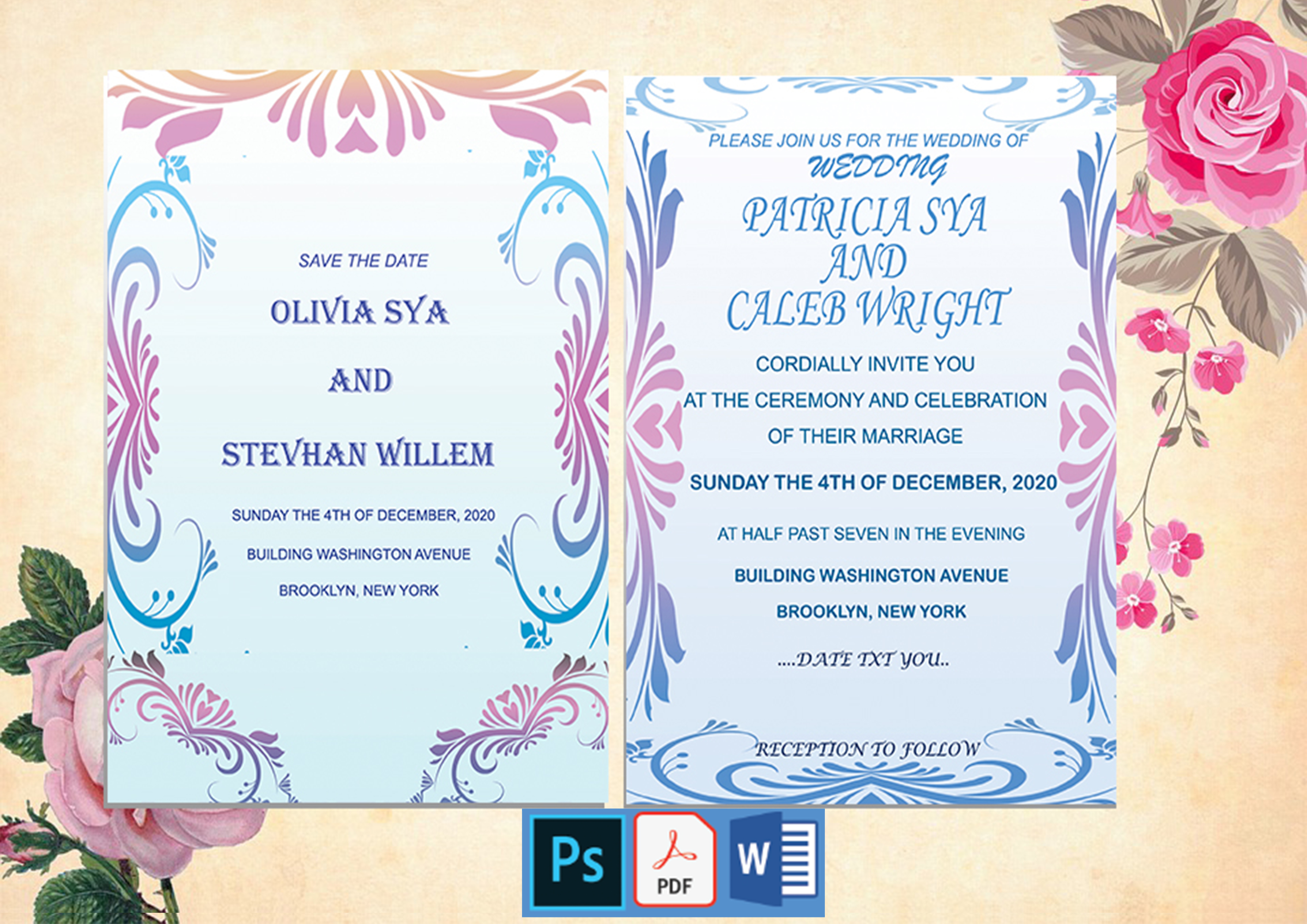 Download Free Wedding Invitation Design Elegant Graphic By Creativeideh for Cricut Explore, Silhouette and other cutting machines.