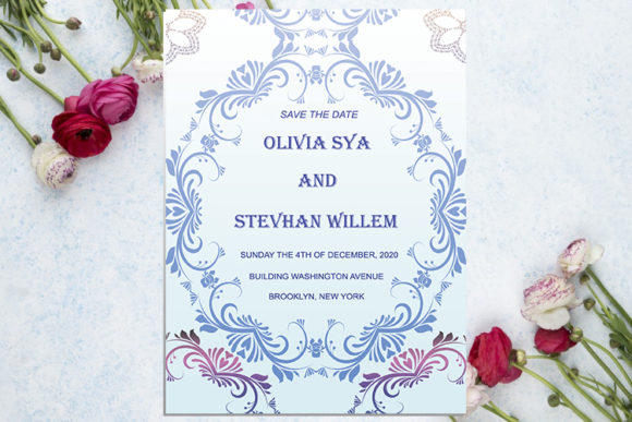 Download Free Wedding Invitation Luxury Pink Graphic By Creativeideh for Cricut Explore, Silhouette and other cutting machines.