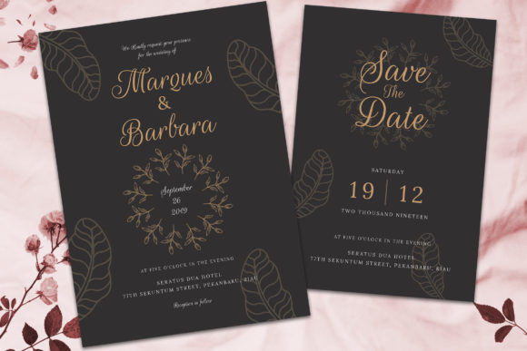 Print on Demand: Wedding Invitation Suite Vol. 02 Graphic Print Templates By rometheme - Image 2