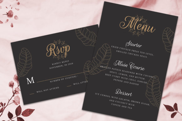 Print on Demand: Wedding Invitation Suite Vol. 02 Graphic Print Templates By rometheme - Image 3